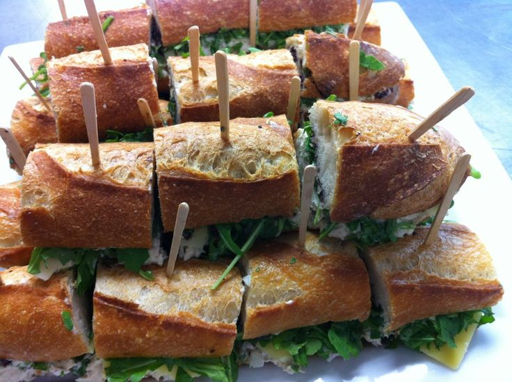 Baguette sandwiches with the best tuna salad, arugula, comté cheese ...
