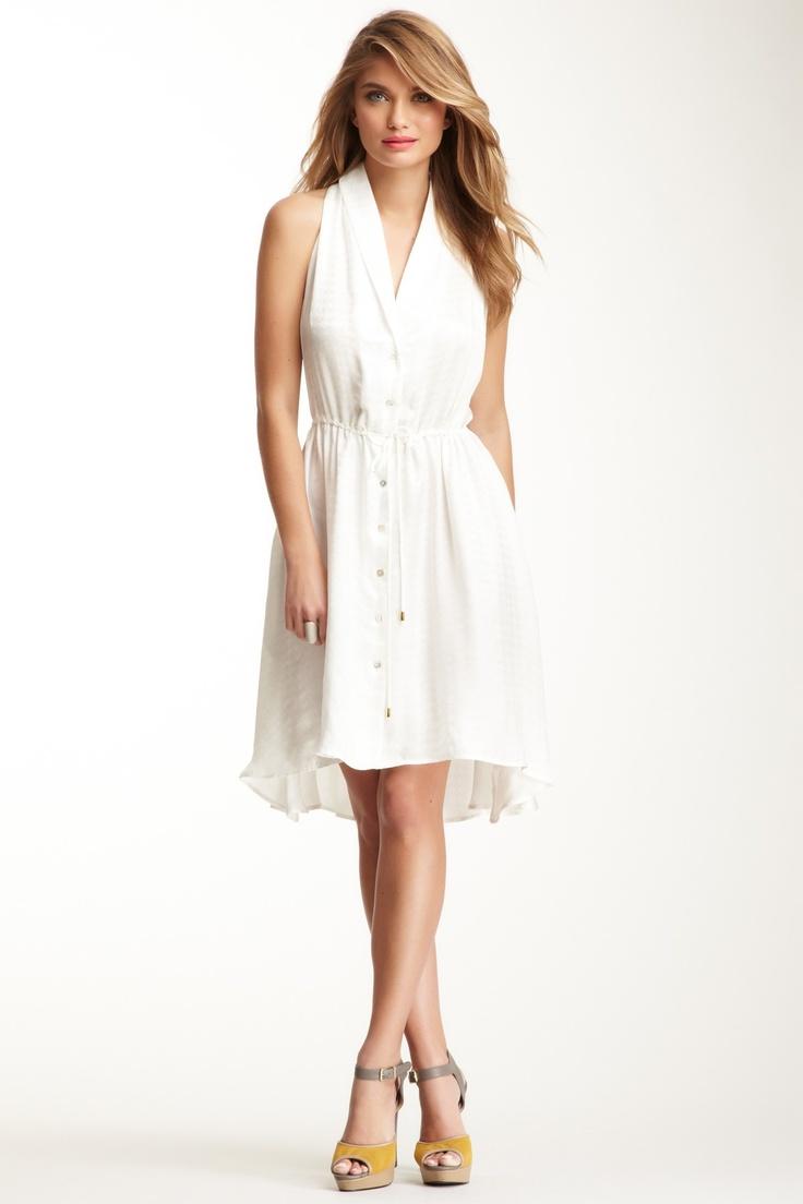 Sleeveless Silk Shirt Dress