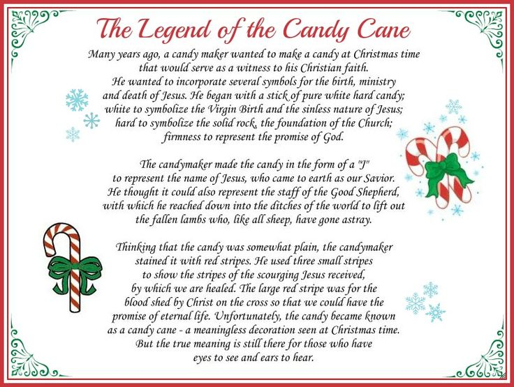 Legend of a Candy Cane Printable | Candy Canes | Pinterest
