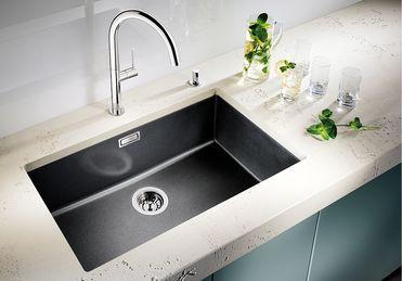 Silgranit Farmhouse Sink : BLANCO silgranit under-mount farmhouse sink for kitchen. Unmatched ...