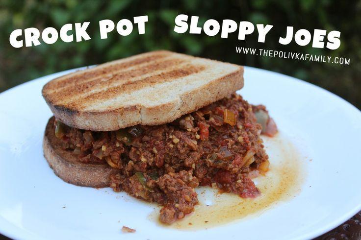 crock pot sloppy joes w/ ground beef or venison, onion, bell pepper ...