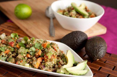 Refreshing Cilantro Lime Spelt Berry Salad by Healthful Pursuit