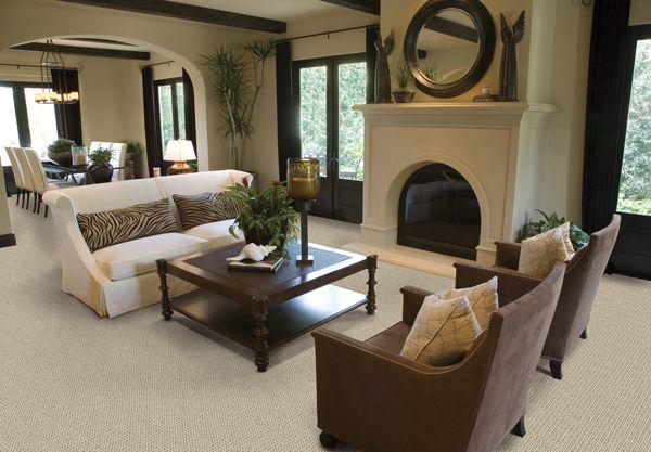 White carpet in spacious living room carpet pinterest