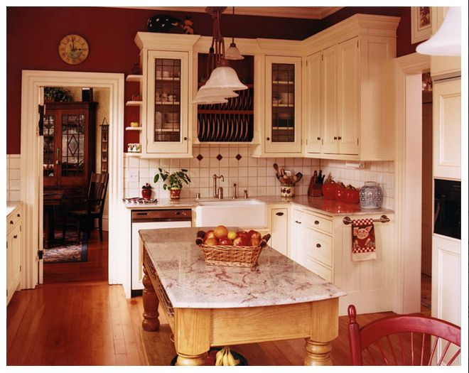 country kitchen with red accents two pretty kitchens