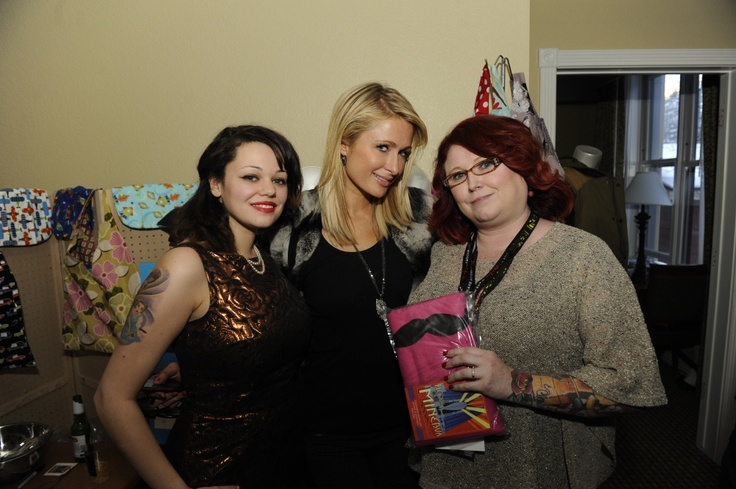 Celebrity Gifting Suite - Paris Hilton with Kate Elfatah of House of Minerva