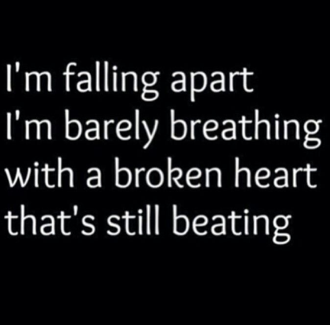 Sad Quotes About Love Broken Heart : Heart Broken