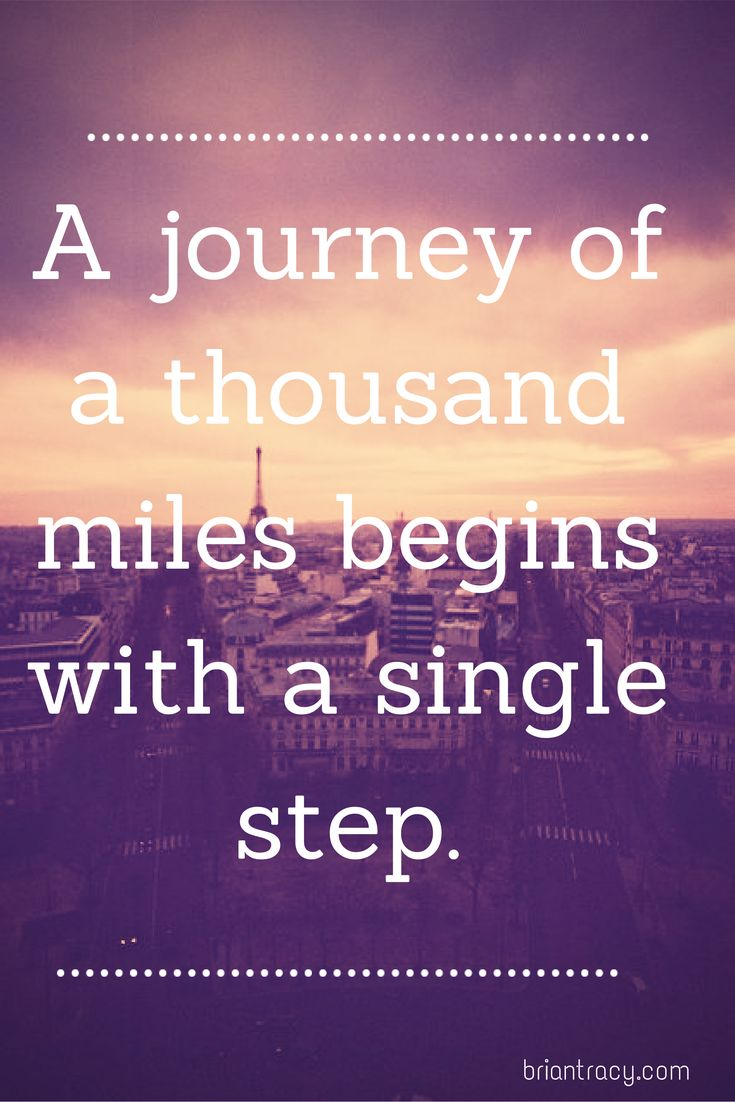 What journey are you beginning?