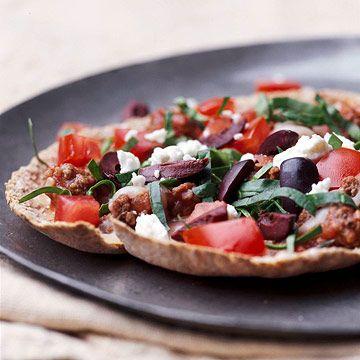 Greek Pita Pizzas | Recipe