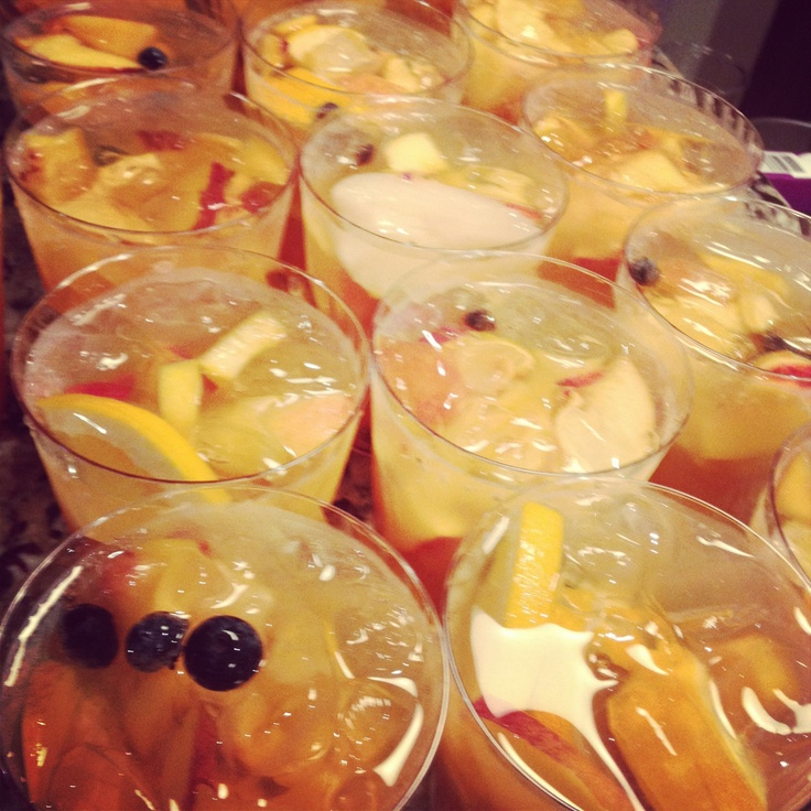 Stone Fruit Sangria | elevee events - Wedding Food Ideas | Pinterest