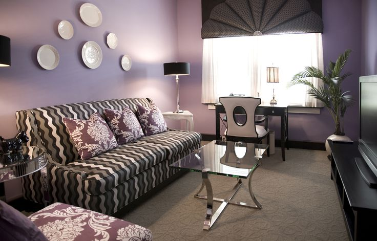 Like Purple And Grey Living Rooms Purple Home Decor