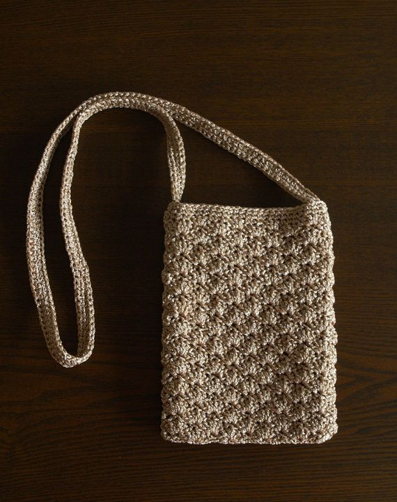 Mini Crochet Bag : Crocheted Mini Shoulder Bag on Etsy, $40.00