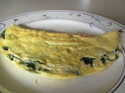 spinach feta omelette | Cooking dreams | Pinterest