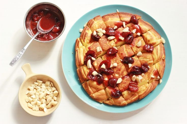 Emperor's Pancake with Spiced Cherry Compote