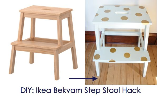 Ikea Hack: Ikea Bekvam Step Stool DIY