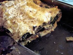 Vegan Thyme: Vegan Mushroom Lasagna in Velvety Bechamel Sauce (Learning to Knit Lace Again: A Black Shawl State of Mind)