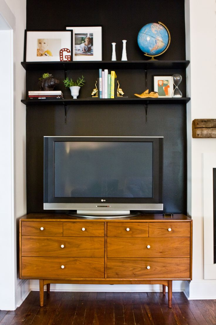 black wall behind tv ideas for home pinterest