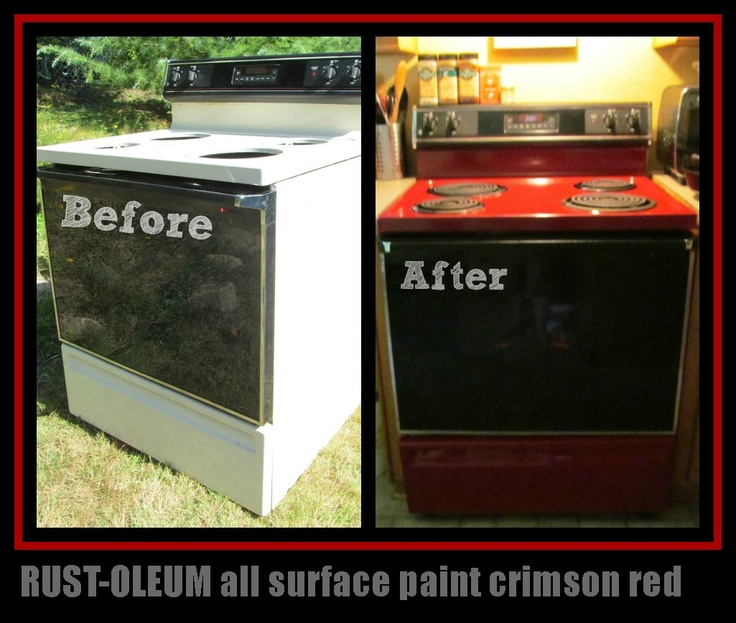 Rust-oleum before and after stove For the Home Pinterest