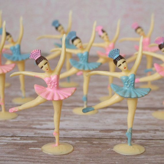 12 ballerina cake topper decorations vintage inspired pink for Ballerina cake decoration