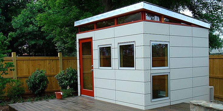 Nice office modern shed pinterest for Modern office shed