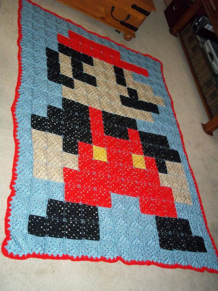 Crochet Pattern For Mario Blanket : Crochet Mario blanket crochet afghan ideas Pinterest