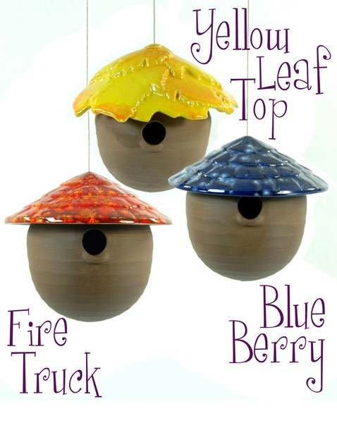 Gourd Birdhouse, with 12 roof colors to chose from | Plum Scrumptious