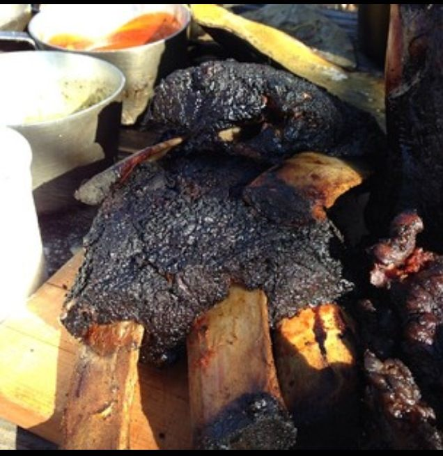 Coffee and chile rubbed beef short ribs cooked for 8 hours in ground ...