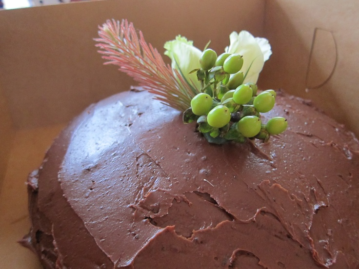 Mexican Chocolate Vegan Cake + Grand Marnier Butter Cream Frosting