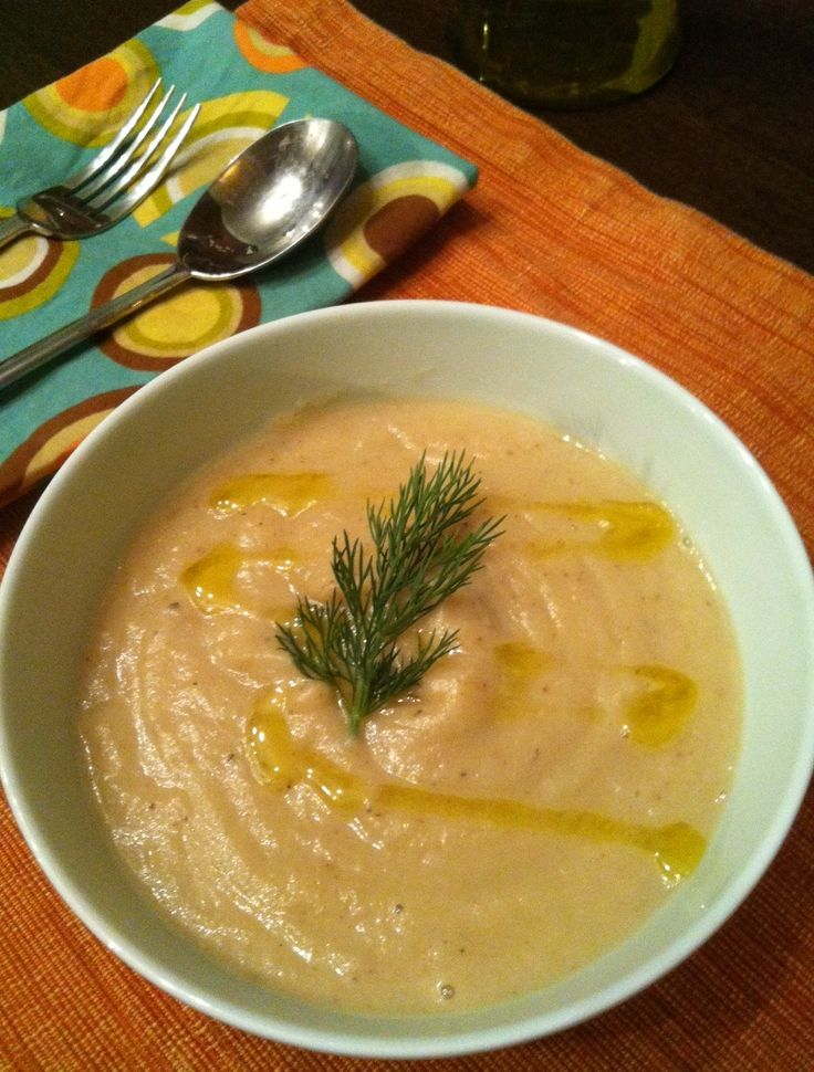 Cauliflower Soup With Sharp Cheddar And Thyme Recipe — Dishmaps