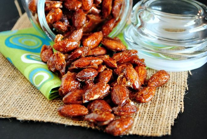Candied Apple Pie Spiced Almonds ~ Candied nuts are a wonderful treat ...