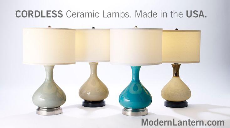 cordless lamp made in usa modern lantern cordless lighting soluti. Black Bedroom Furniture Sets. Home Design Ideas
