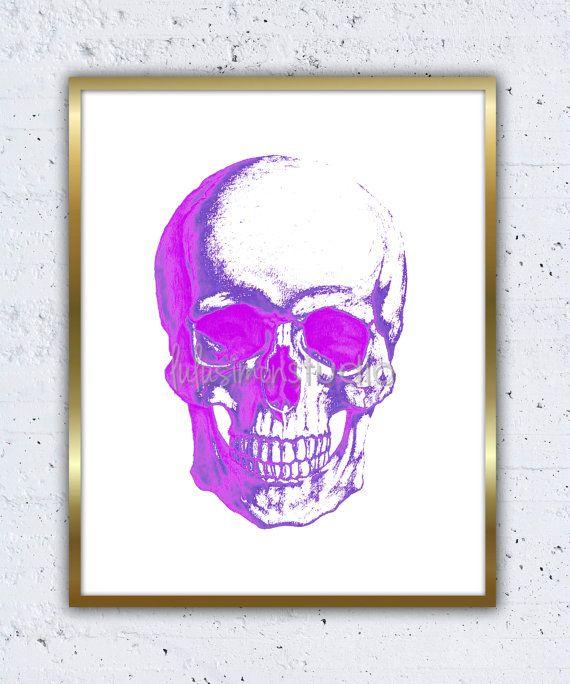 wall decor home decor skull art skull print skull