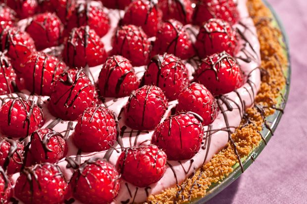 Chocolate-Raspberry Cream Pie @Justin Lashley - your two faves! i'm ...