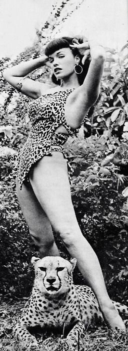 Bettie Page by Bunny Yeager at Africa USA (1954) <3