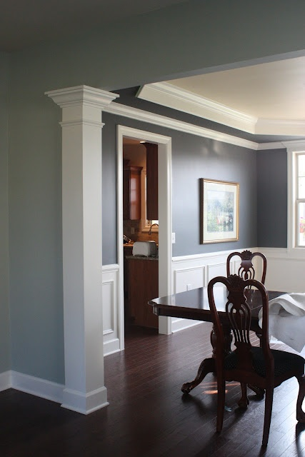 Ben Moore Trout Gray in DR Dining Room ideas