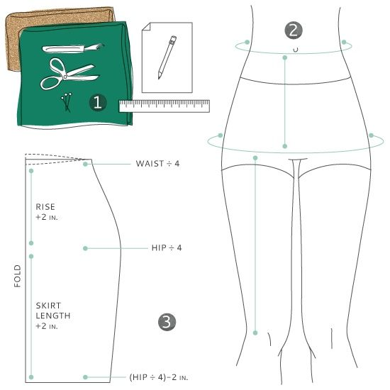 tutorial color blocked wiggle skirt sewing patterns
