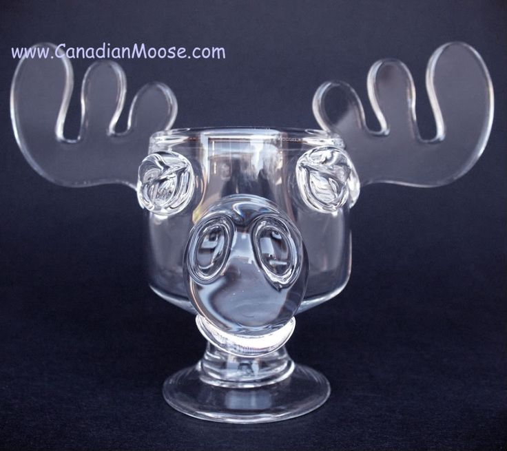 The glass Moose eggnog mugs (often thought to be reindeers)