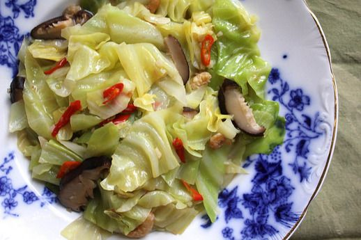 Braised Napa Cabbage With Mushrooms And Gorgonzola Recipe — Dishmaps