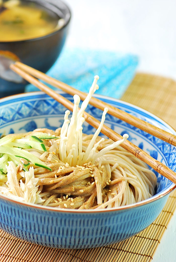 Chinese style sesame cold soba noodles | Food: Asian | Pinterest