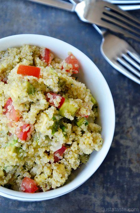 Quinoa and guac salad