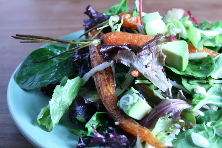 Roasted Carrot Salad with Lemon Truffle Dressing