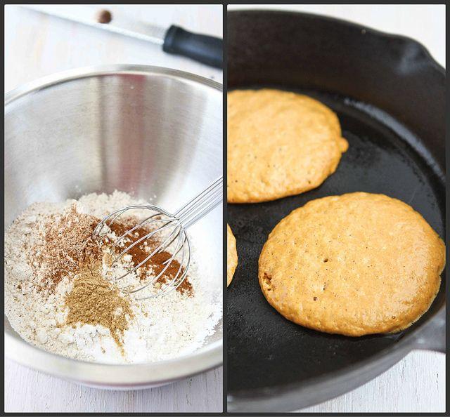 Whole Wheat Oat Gingerbread Pumpkin Pancake Recipe by CookinCanuck,