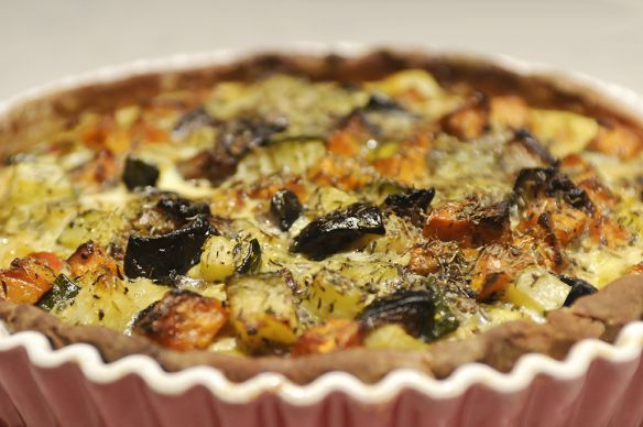 Roasted Vegetable Tart | recipes to try | Pinterest