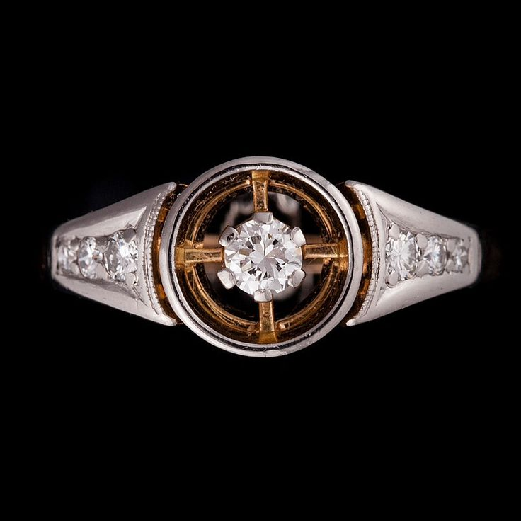Nils Westerback, vintage 18K gold ring, with brilliant cut diamonds, 1966. | Bukowskis Market
