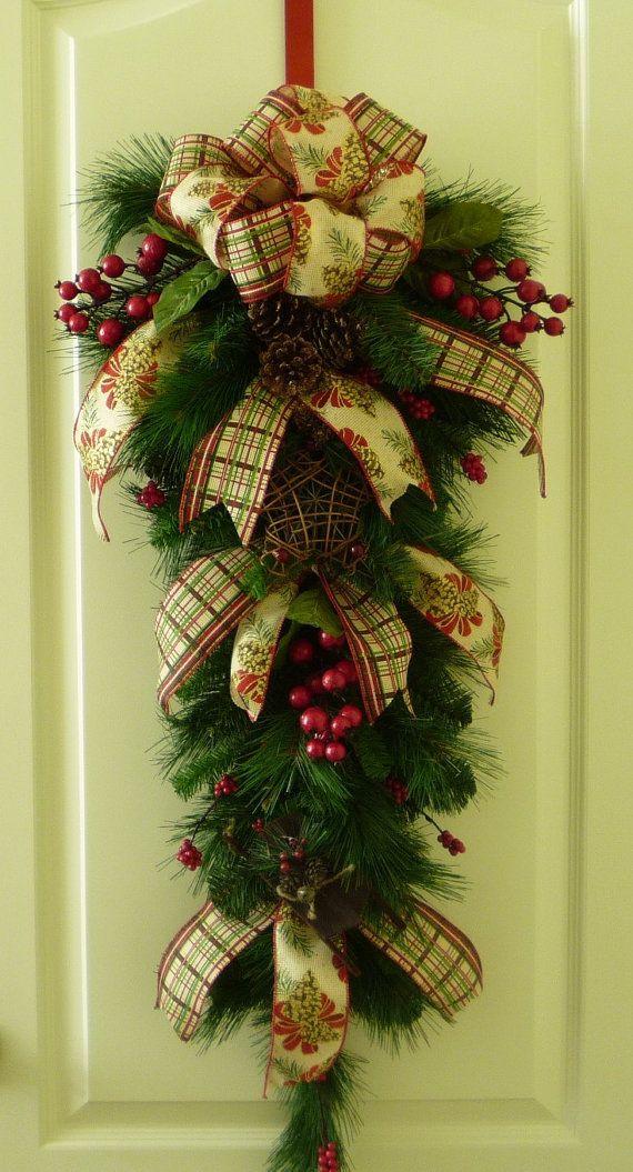 Christmas Sale Traditional Christmas Swag Rustic Wreath