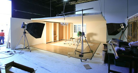 Film set construction ...