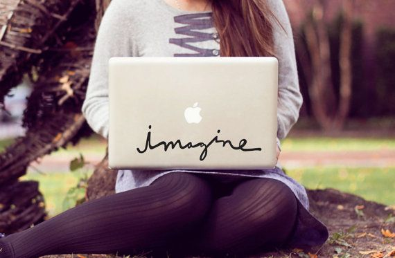 LOVE! :: imagine large laptop decal by decalLOVE on Etsy