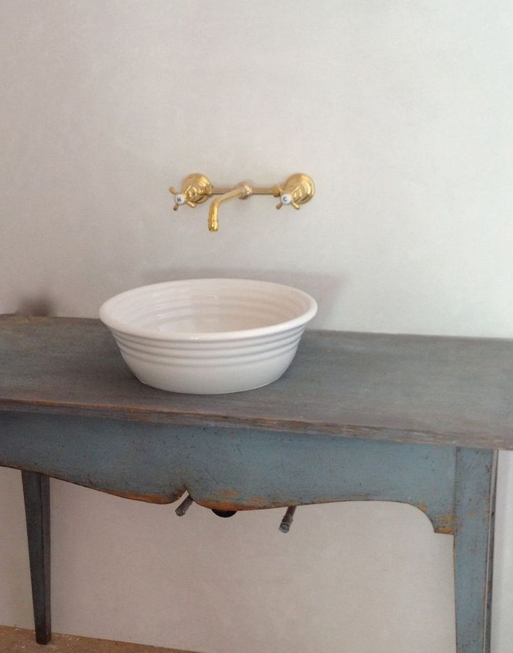Vintage Wall Mount Bathroom Sink : Leilas antique Swedish sink table from #toneontone @Loi Thai Tone ...