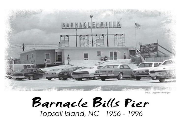 Barnacle bills pier topsail island pinterest for Surf city pier fishing report facebook