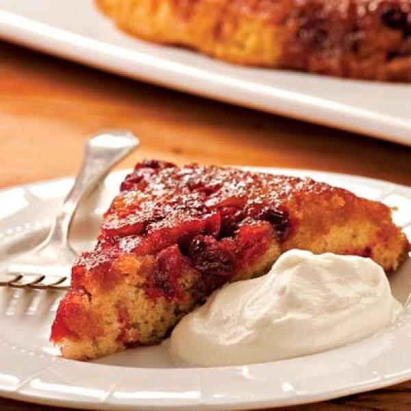 Cranberry Upside-Down Cake Recipe | http://aol.it/19d6UYo #Dessert