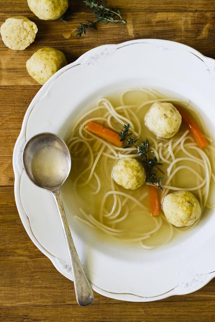 Jewish Chicken Soup with Kneidlach... i like matzo balls